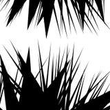 Asymmetrisch, onregelmatig element met verspreide gespannen, gerichte vorm stock illustratie