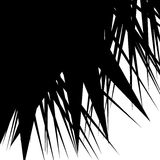 Asymmetrisch, onregelmatig element met verspreide gespannen, gerichte vorm vector illustratie