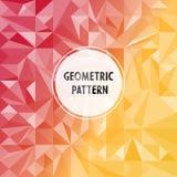 Asymmetrisch patroon met geometrische vormen royalty-vrije illustratie