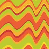 Asymmetrische retro golven Royalty-vrije Stock Afbeelding