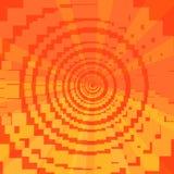 Asymmetrisk röd orange bakgrund av fyrkanter stock illustrationer