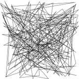 Asymmetrisk textur med slumpmässiga kaotiska linjer, abstrakt geometrisk modell Stads- stil för svartvit vektorillustrationGrunge royaltyfri illustrationer