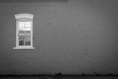 Asymmetry. Asymmetrical view of a lonely city street in Jacksonville, North Carolina. A window to nowhere Stock Image