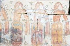 asyrians fångat snida som är hieroglyphic Arkivfoto