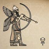 Asyryjska łuczniczka royalty ilustracja