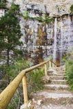 Até a cachoeira fotos de stock royalty free