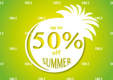 Até 50% fora da venda brilhante do verão Foto de Stock Royalty Free