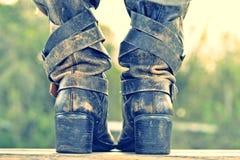 As botas fotografia de stock