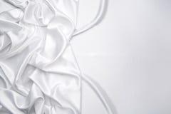 atłasowy tło biel Fotografia Stock