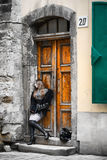 At Door Royalty Free Stock Photography