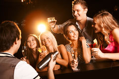 Free At The Bar Stock Image - 12084901