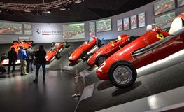 Free At The Ferrari Museum, The Room Where The World-class Formula 1 Winning Cars Are Displayed Stock Images - 136909194