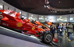 Free At The Ferrari Museum, The Room Where The World-class Formula 1 Winning Cars Are Displayed Stock Images - 136909284