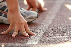 Free At The Starting Line Stock Image - 4927141