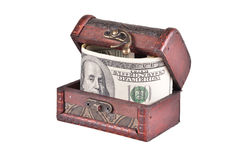 Ataúd con el dinero Fotos de archivo libres de regalías