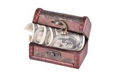 Ataúd con el dinero Fotos de archivo
