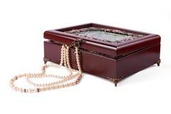 Ataúd con joyería Imagen de archivo libre de regalías