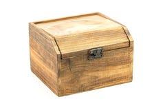 Ataúd de madera Fotografía de archivo libre de regalías