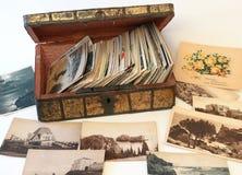 Ataúd por encargo del viejo vintage Foto de archivo libre de regalías