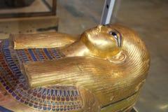 Ataúd real de Goldy - museo egipcio imagen de archivo