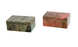 Ataúdes de piedra aislados Fotografía de archivo libre de regalías