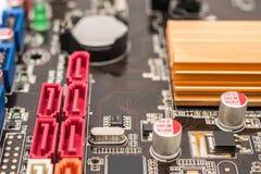 ATA Connectors On Motherboard périodique image libre de droits