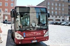 Atac buss i Rome, Italien Fotografering för Bildbyråer