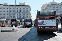Atac buss i Rome, Italien Arkivfoton