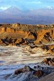 atacama智利沙漠月亮谷 库存照片