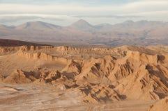 atacama智利沙漠月亮谷 库存图片
