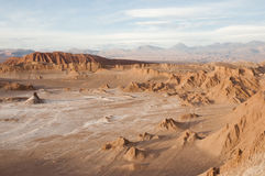 atacama智利沙漠月亮谷 图库摄影