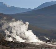atacama智利沙漠el喷泉tatio 免版税库存照片