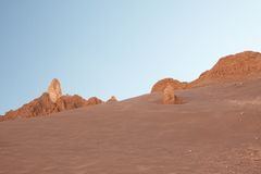 Atacama öken Arkivbild