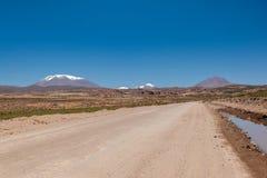 Atacama öken på Salar de Uyuni, Bolivia Arkivfoto