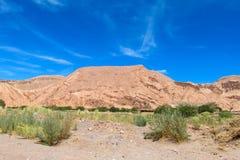 Atacama arid mountain landscape. Atacama desert arid mountain landscape, Chile Stock Photos