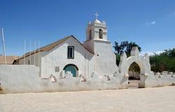 atacama chile kyrkliga de pedro san Arkivbilder