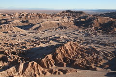 Atacama Desert. Valle de la Luna (Moon Valley), a rocky formation at Atacama Desert that, as its name says, looks like the Moon surface Royalty Free Stock Images