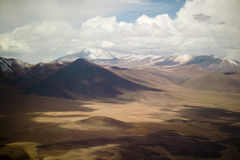 Atacama desert. Aerial view of the atacama desert, northern Chile Stock Images