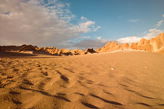 Atacama desert,. Rocks formations in death valley, Atacama desert, Chile Stock Image