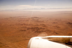 Atacama desert from airplane Royalty Free Stock Photos