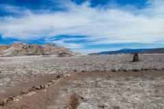 Atacama desert arid flat land. With salty soil, Chile Stock Image