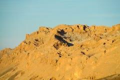 Atacama desert arid mountains at sunset. Chile Royalty Free Stock Photos