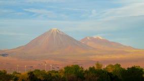 Atacama desert arid volcano landscape Royalty Free Stock Image