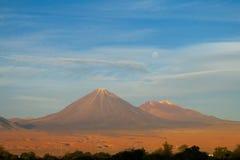 Atacama desert arid volcano Royalty Free Stock Images