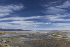 Atacama desert, Bolivia with majestic colored mountains and blue Stock Images