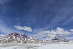 Atacama desert, Bolivia with majestic colored mountains and blue Stock Photography