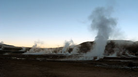 Atacama Desert, Chile. Geysers at Sunset in part of the Atacama Desert, Chile Stock Images