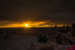 Atacama desert, Chile. Beautiful sunset in the moon valley, Atacama desert, Chile Royalty Free Stock Photos