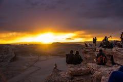 Atacama desert, Chile. Beautiful sunset in the moon valley, Atacama desert, Chile Stock Image