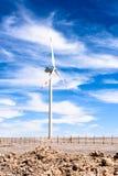 Atacama desert, Chile. NOV 3, 2014: Wind mill in the . Atacama Desert proper occupies 105,000 square kilometres stock photography
